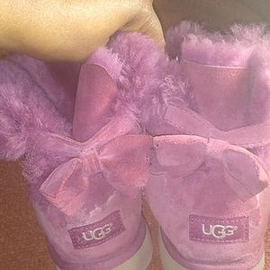 Plum colored ankle UGGS size 6
